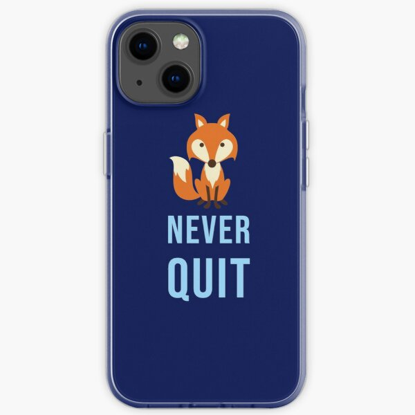 Foxes never quite - Leicester iPhone Soft Case