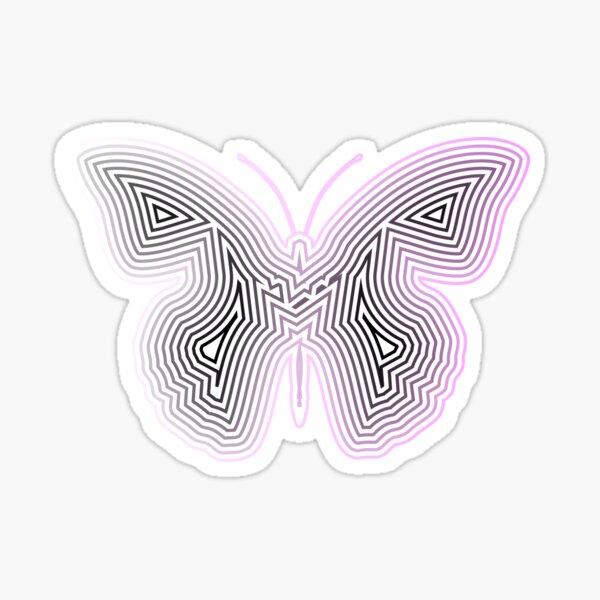 Neon Butterfly Sticker