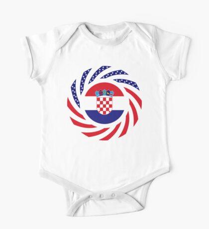 Croatian American Multinational Patriot Flag Series Kids Clothes