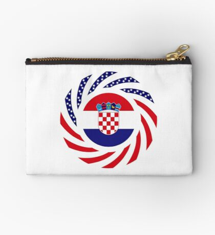 Croatian American Multinational Patriot Flag Series Zipper Pouch