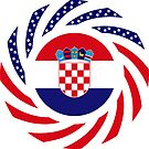 Croatian American Multinational Patriot Flag Series by Carbon-Fibre Media