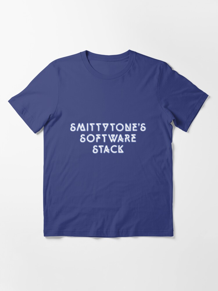 Alternate view of Smittytone's Software Stack —Quicksilver Essential T-Shirt