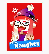 Splatfest Team Naughty v.2 Photographic Print