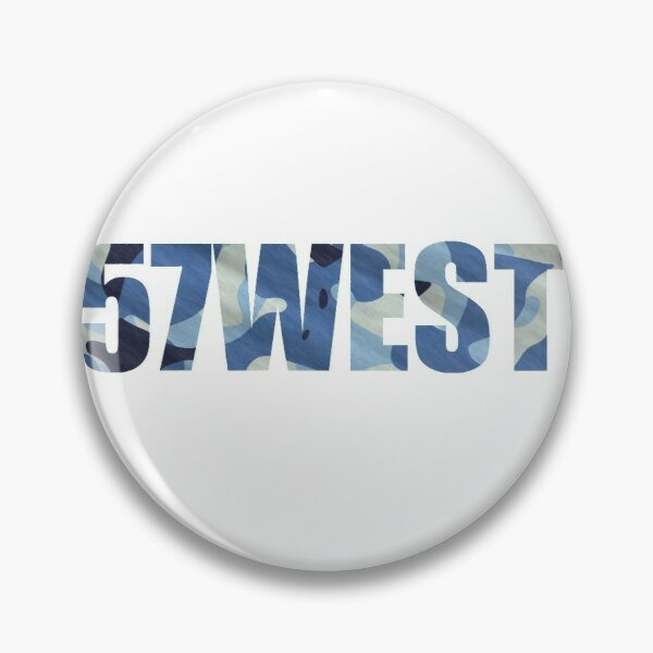 57WEST - Blue Camo Pin