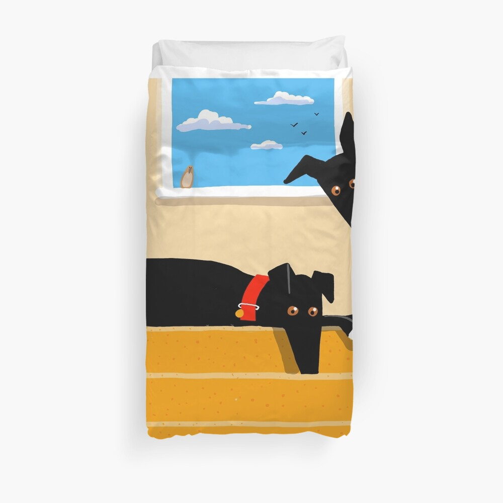 The Hounds at the Top of the Stairs Duvet Cover