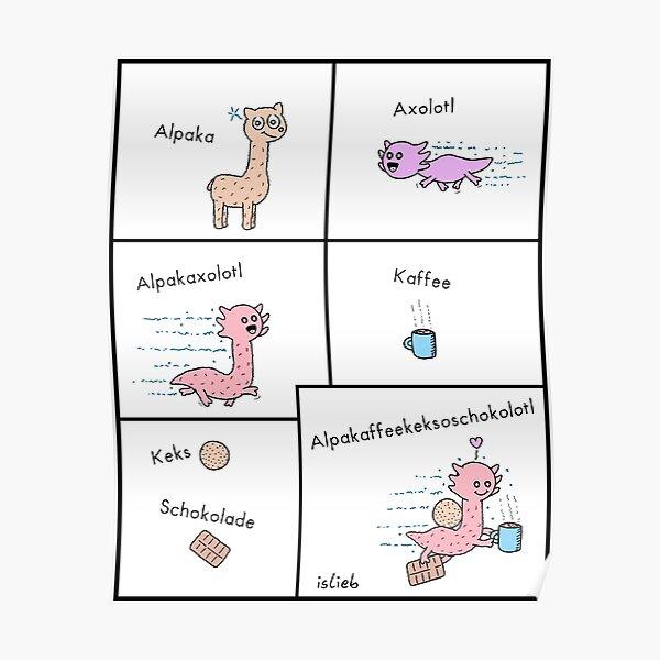 Alpaka-Axolotl-Kaffee-Kombo Poster