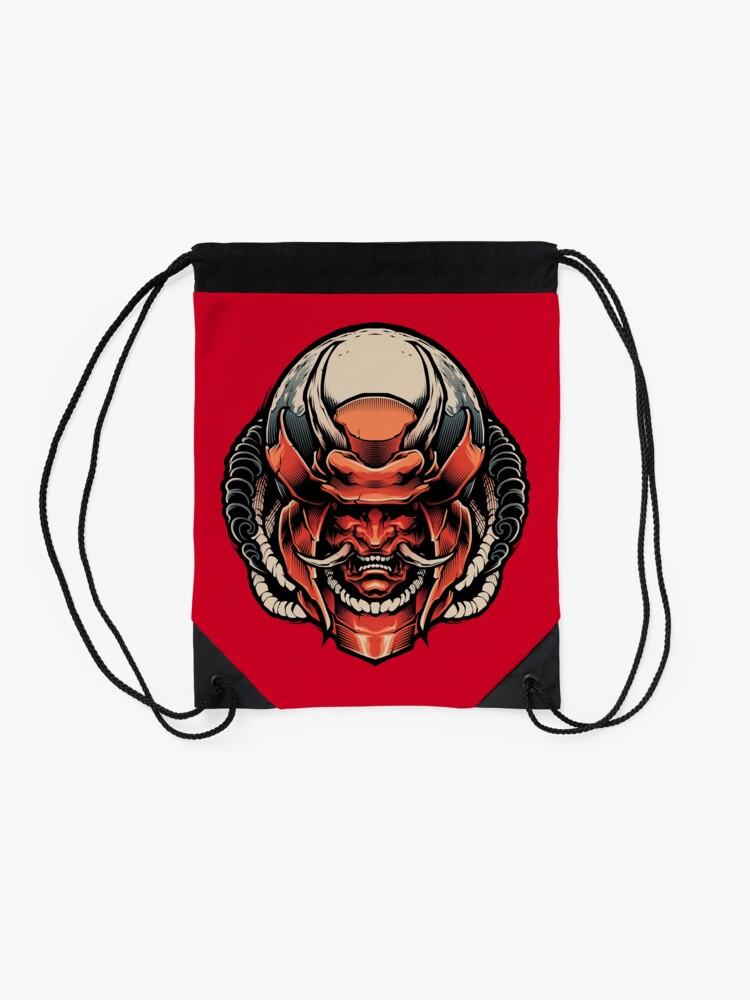 Alternate view of HANNYA SAMURAI DEMON Drawstring Bag