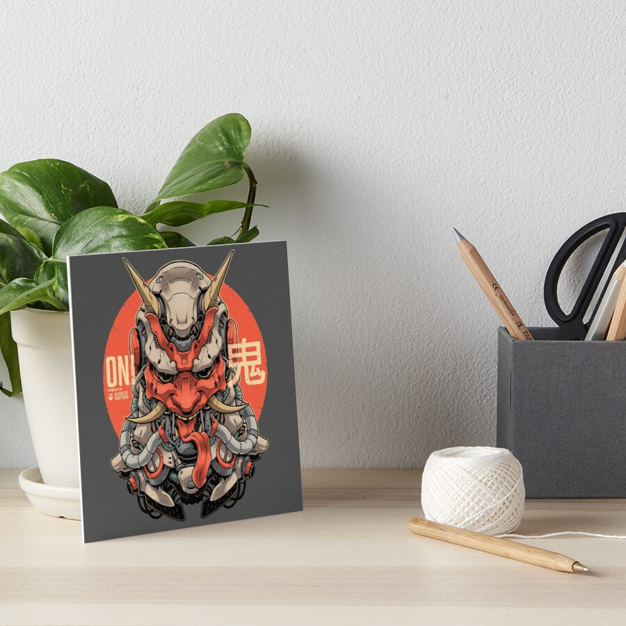 ONI MECHA Art Board Print
