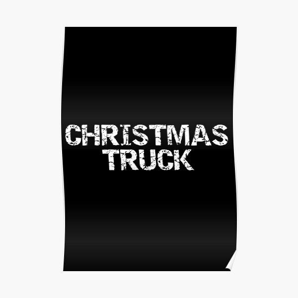 Christmas Truck  Poster