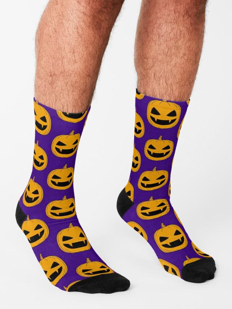 Alternate view of Halloween - Jack o lantern Orange Socks