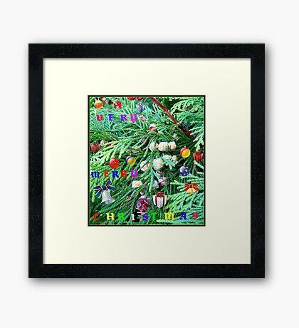 Colourful Conifer Christmas Card Gerahmter Kunstdruck