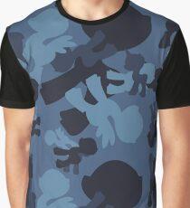 Brony Military Navy Camo Graphic T-Shirt