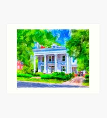 Classically Southern - The Old McKenzie Home Art Print