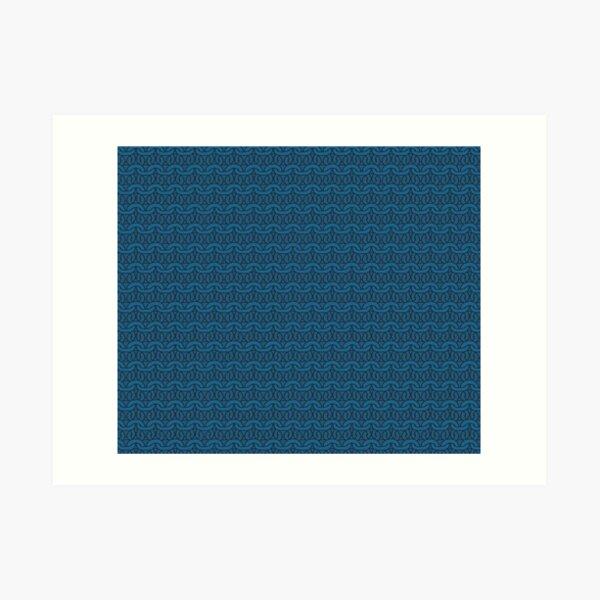 Navy Garter Stitch Art Print