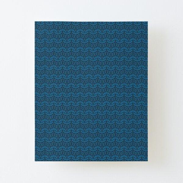 Navy Garter Stitch Canvas Mounted Print