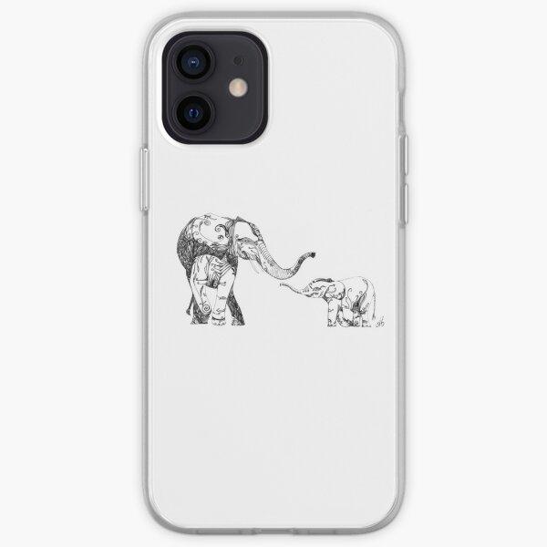 Eléphants Coque souple iPhone