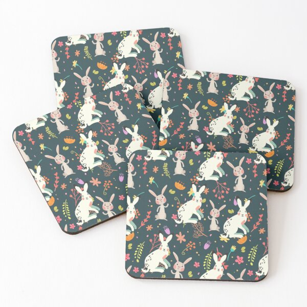 rabbit lover Coasters (Set of 4)