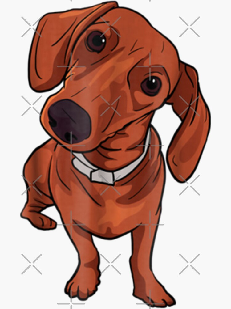Cute Red Dachshund Sausage Dog Lover Gift by KostaGe