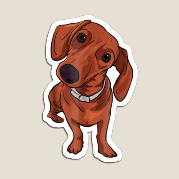 Cute Red Dachshund Sausage Dog Lover Gift Magnet