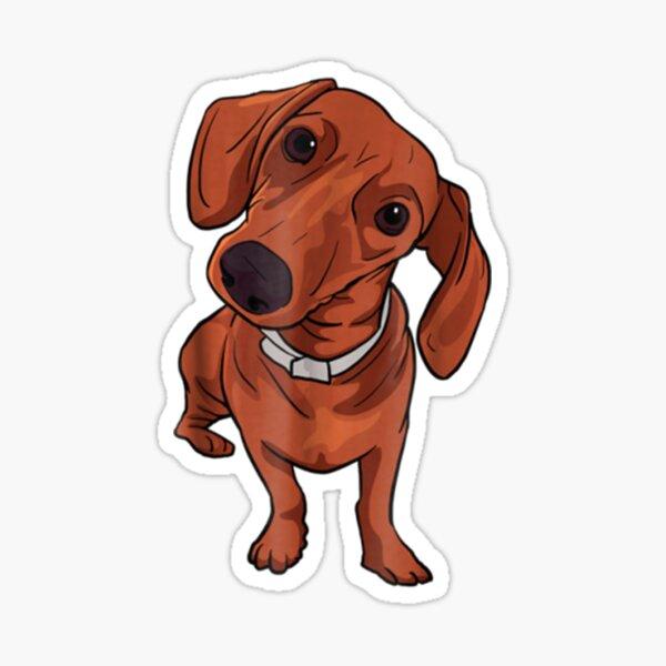 Cute Red Dachshund Sausage Dog Lover Gift Sticker
