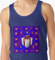 Christmas in Blue - Gift and Bells Christmas Card Tank Top