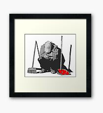 Messy Situations Framed Print