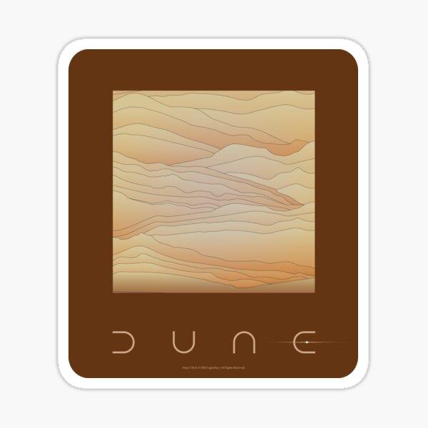 Dune movie 2020 brown Sticker