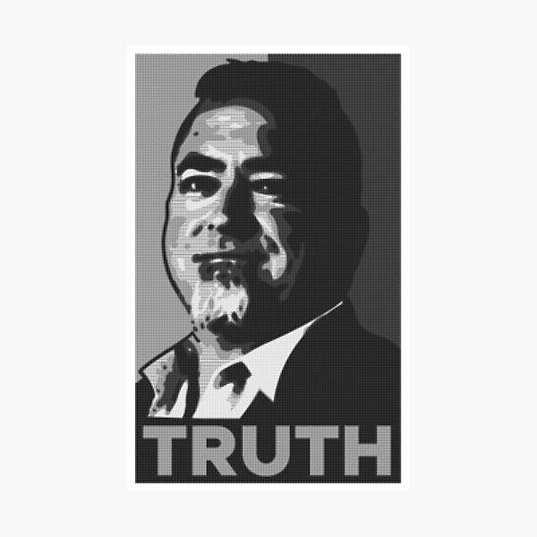 TRUTH Black & White Printing Press Photographic Print
