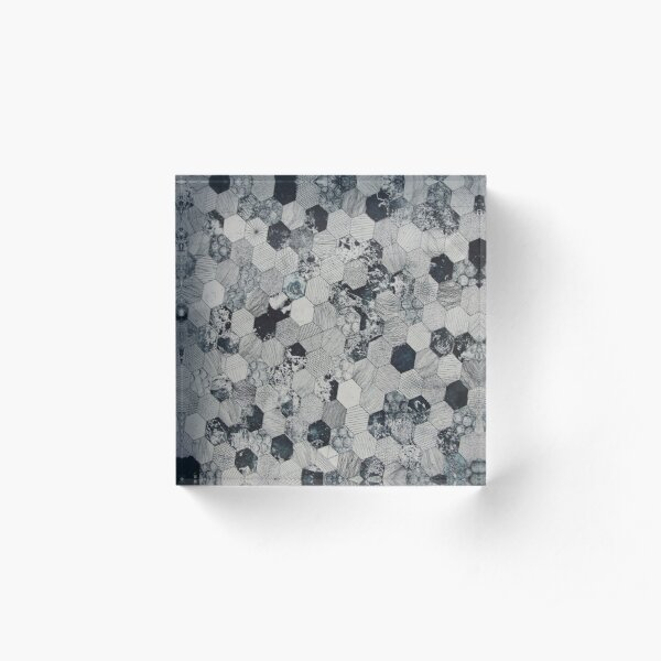 Octagonal Pattern Acrylic Block