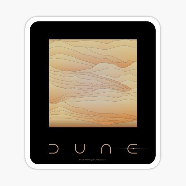Dune movie 2020 black Sticker