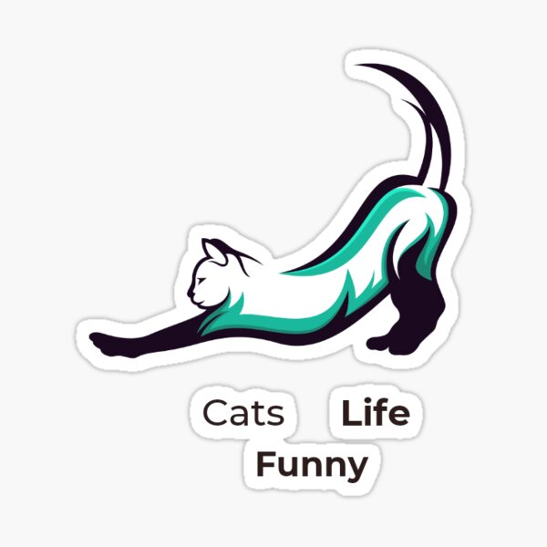 cats funny life Sticker