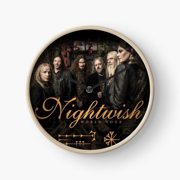 Band Tour Nightwish Music Music Clock