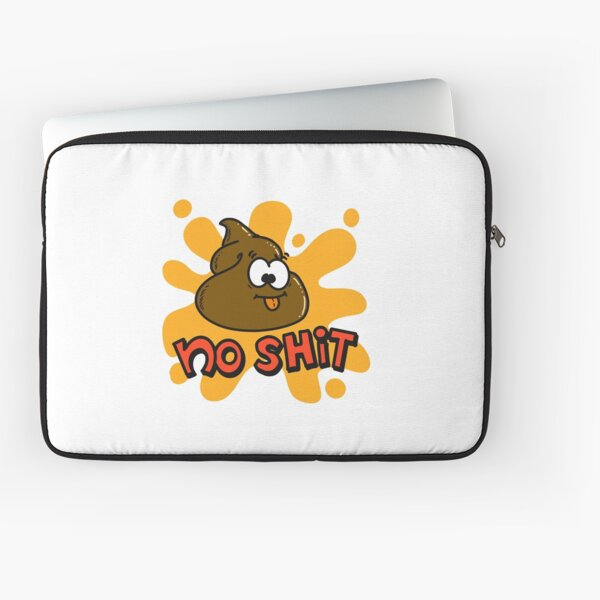 No shit cartoon Laptop Sleeve