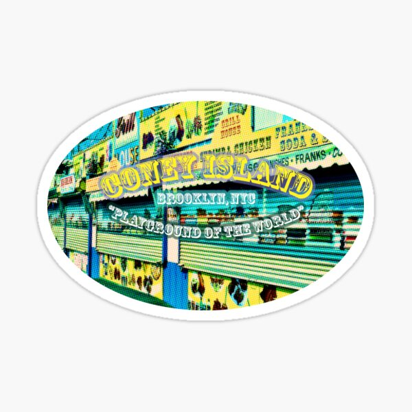 Coney Island in Popping Colour Sticker
