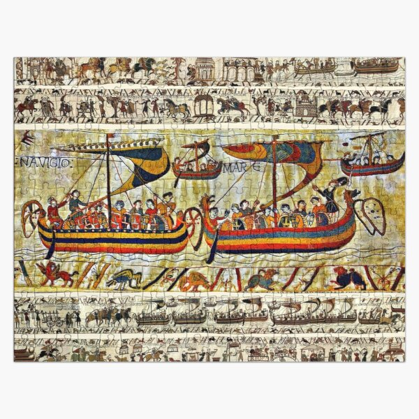 THE BAYEUX TAPESTRY ,VIKING SHIPS Jigsaw Puzzle