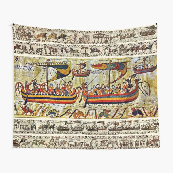 THE BAYEUX TAPESTRY ,VIKING SHIPS Tapestry