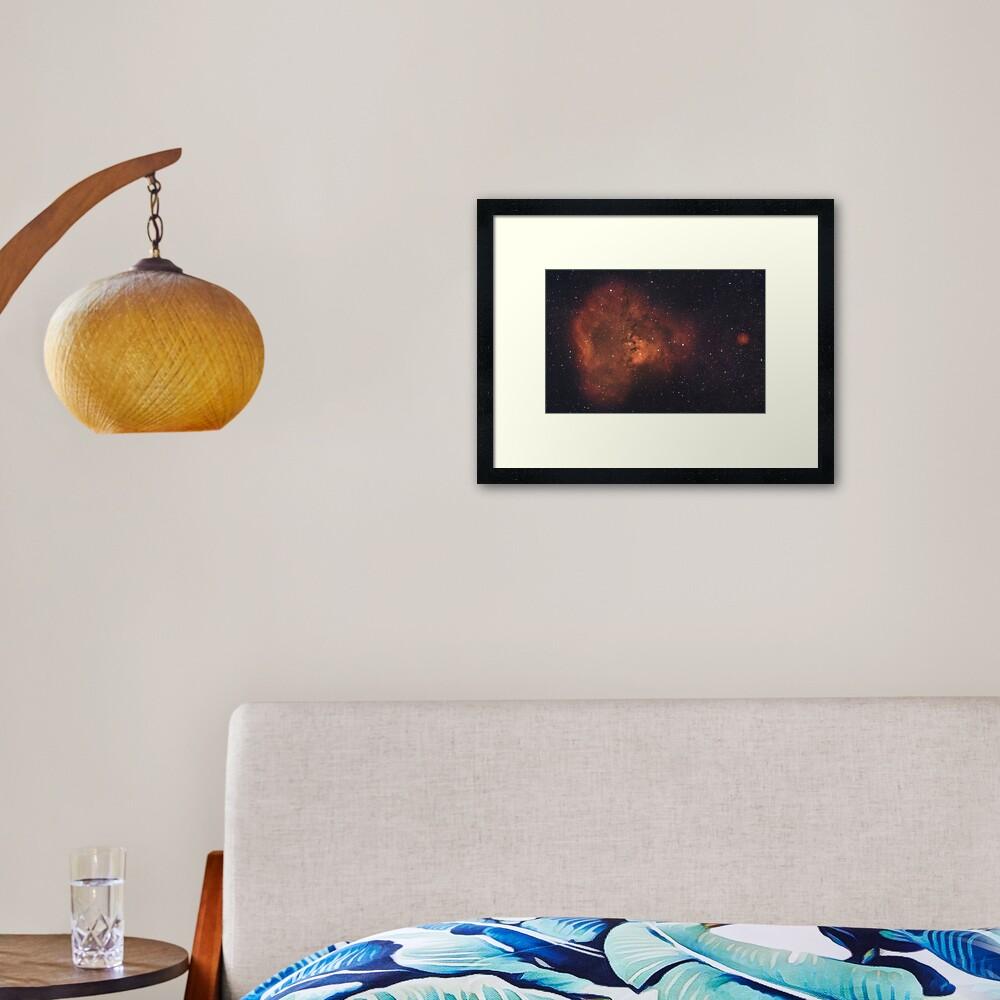 NGC 7288 Nebula System Framed Art Print