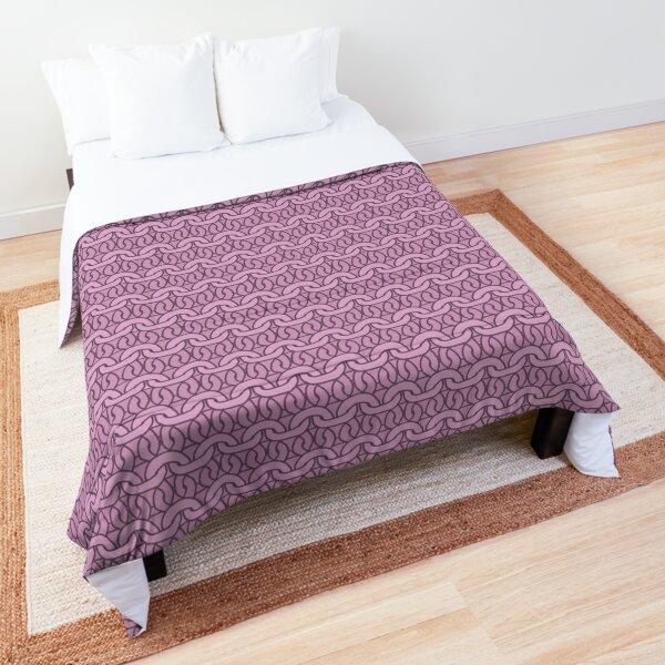 Pink Garter Stitch Comforter