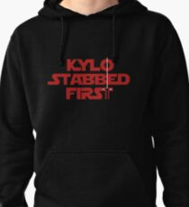 Kylo Stabbed First Pullover Hoodie