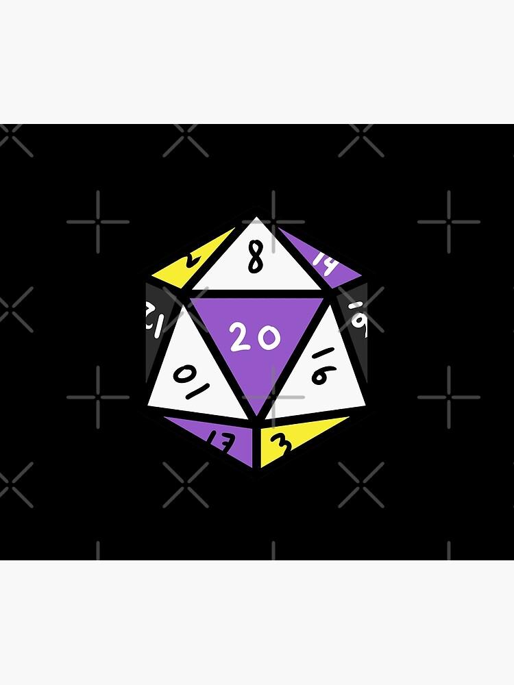 Nonbinary D20 Dice Nonbinary Pride by queerappear
