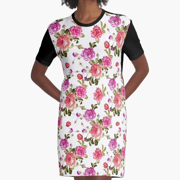 rose garden Graphic T-Shirt Dress