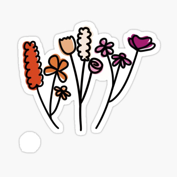 flowers for people who listen to girl in red Sticker