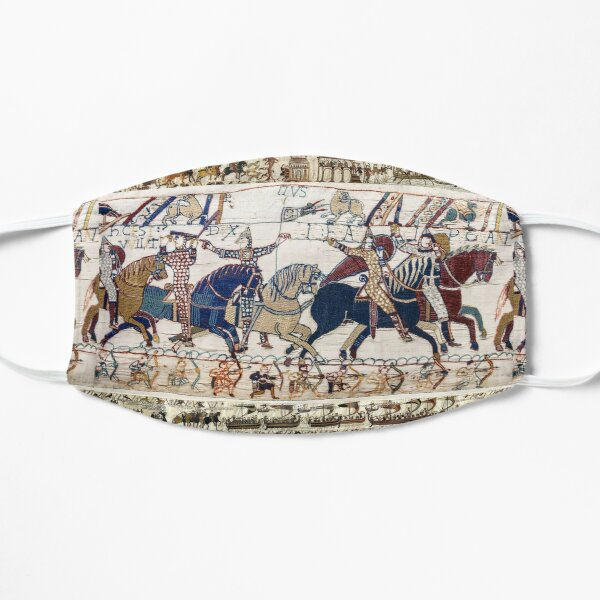 THE BAYEUX TAPESTRY ,BATTLE OF HASTINGS ,NORMAN KNIGHTS HORSEBACK Mask