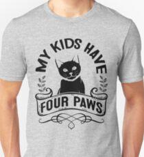 Schwarze Katzenliebhaber! Meine Kinder haben vier Pfoten Slim Fit T-Shirt