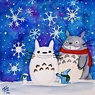 Totoro Winter Wonderland  by studioofmm