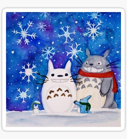 Totoro Winter Wonderland  Sticker
