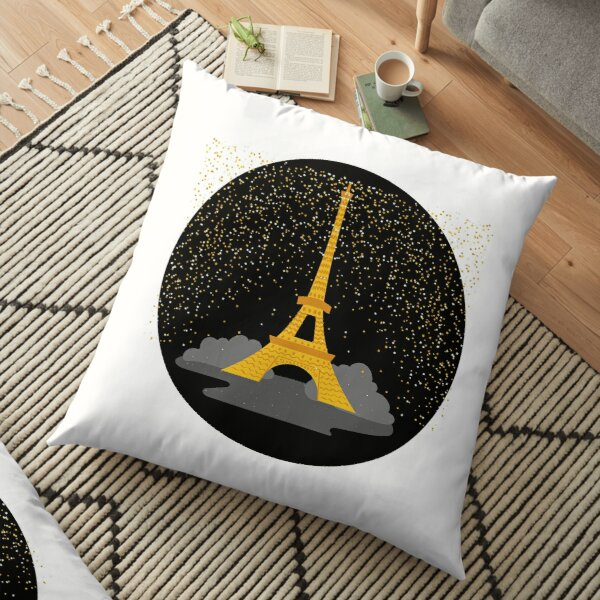 Paris at night Floor Pillow