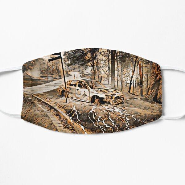 Ausgebranntes Auto, Australien Flache Maske