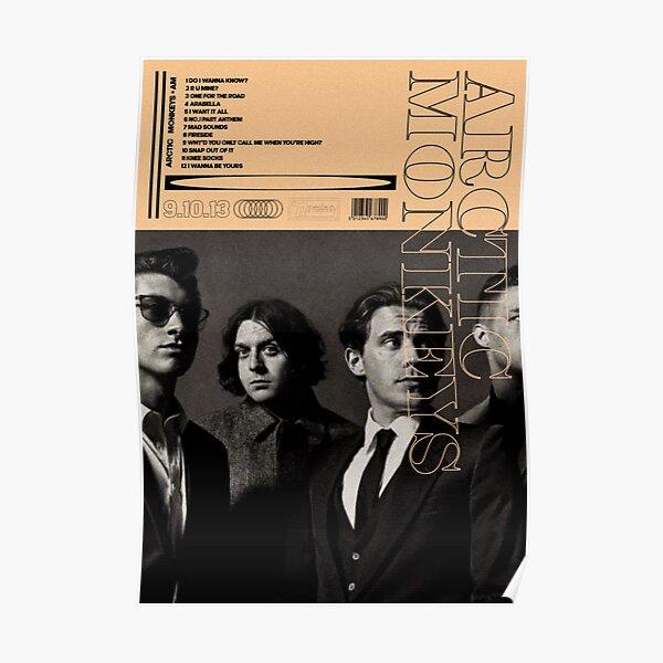 Arctic monkeys AM album poster Poster