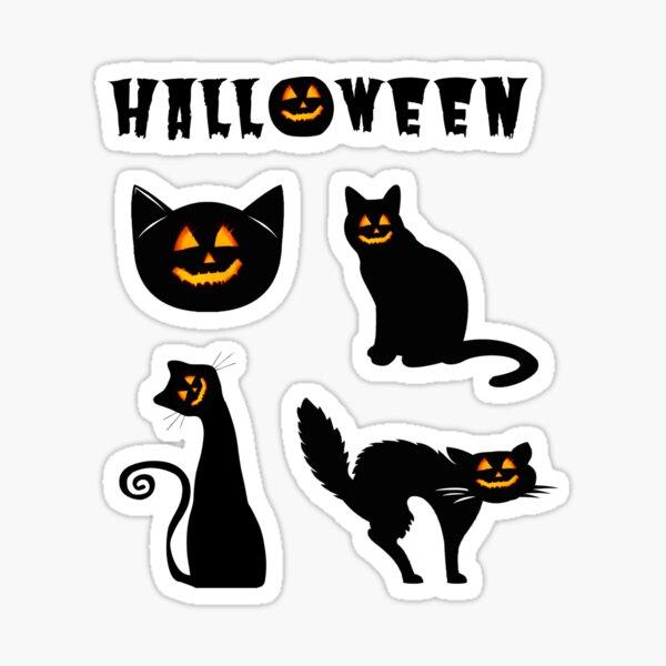 Schwarze Katze Halloween Pack 2 Sticker